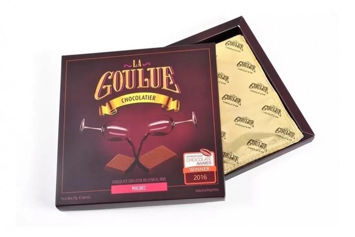 LA GOULUE CHOCOLATE SEMI AMARGO MALBEC 72 GR