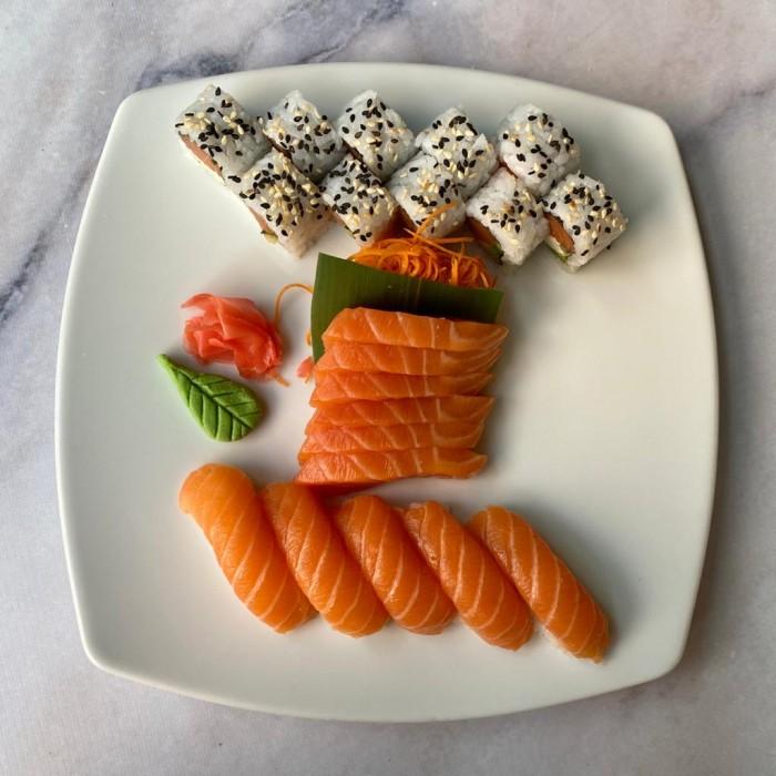 COMBINADO GOURMAND 21 P. (10 rolls clásicos variados, 5 niguiris y 6 sashimi)