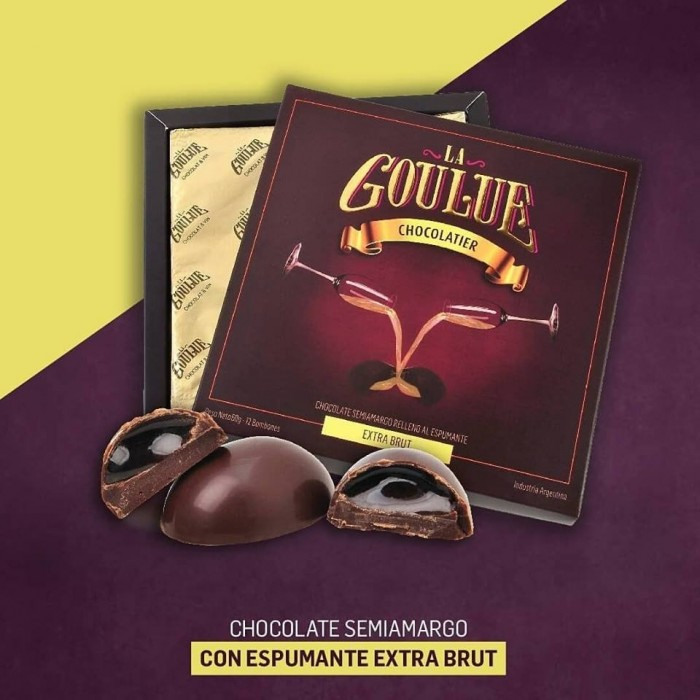 LA GOULUE CHOCOLATE SEMI AMARGO EXTRA BRUT 72 GR