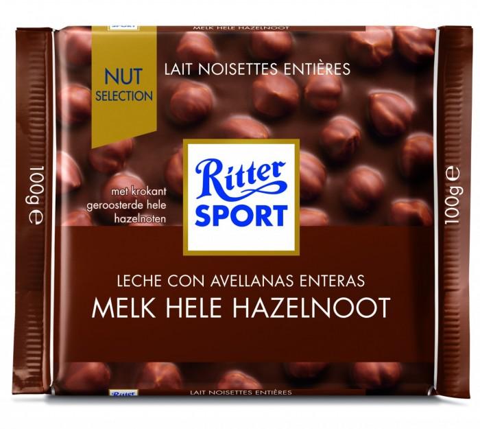 RITTER CHOCOLATE LECHE CON AVELLANAS 100 GR