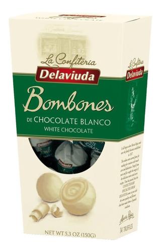 DELAVIUDA TRUFAS CHOCOLATE BLANCO 150G