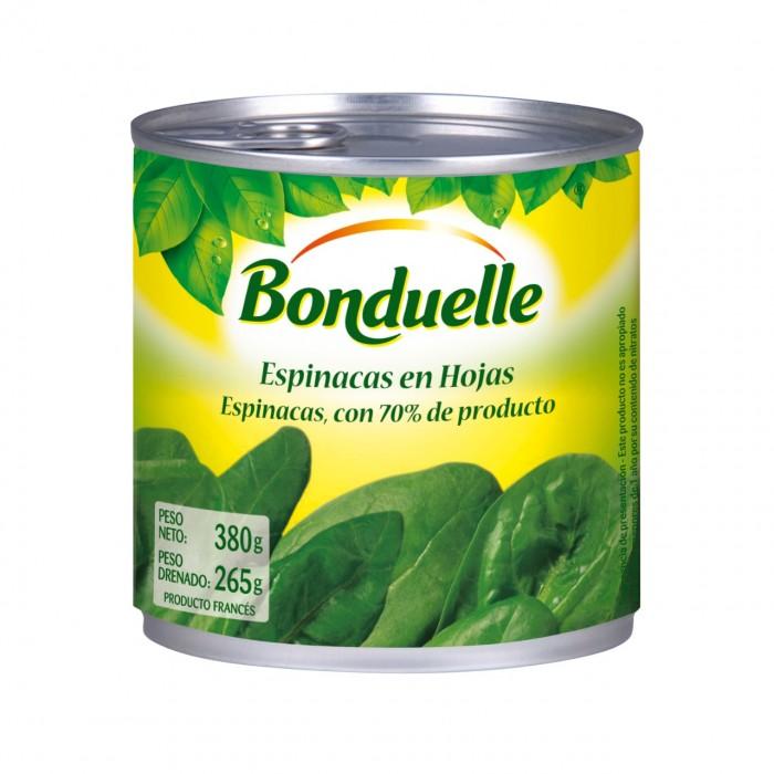 BONDUELLE ESPINACAS LATA 380GR