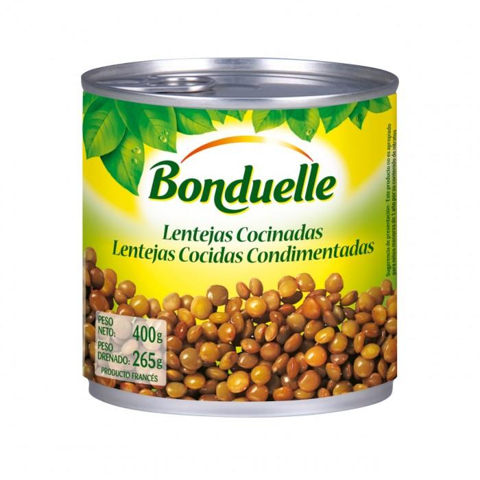 BONDUELLE LENTEJAS COCIDAS LATA 400GR