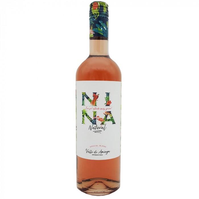 VINO NINA NATURAL ROSADO 750 CC