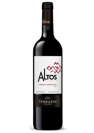 VINO TERRAZAS ALTOS PLATA CABERNET SAUVIGNON 750 CC