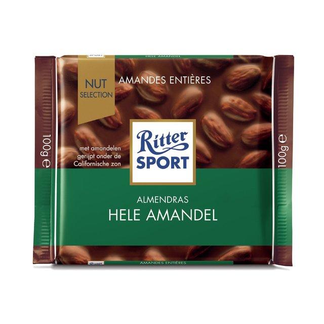 RITTER CHOCOLATE CON ALMENDRAS 100 G