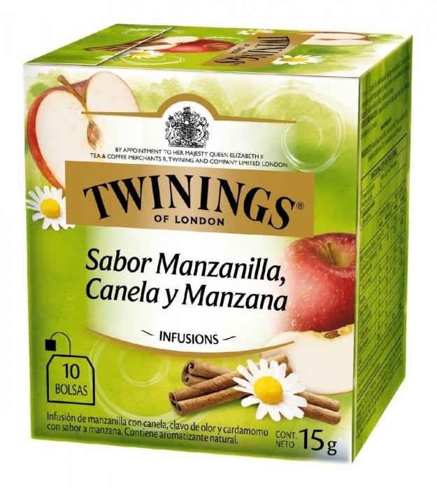 TE TWINING MANZANILLA CANELA Y MANZANA