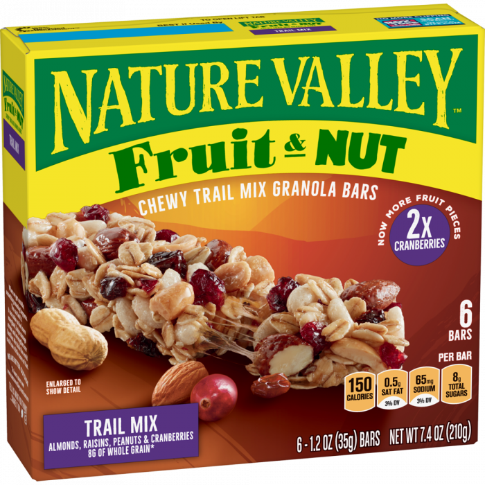 NATURAL VALLEY TRAIL MIX 210 GR