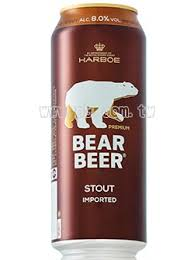 BEAR BEER STOUT LATA 500 ML