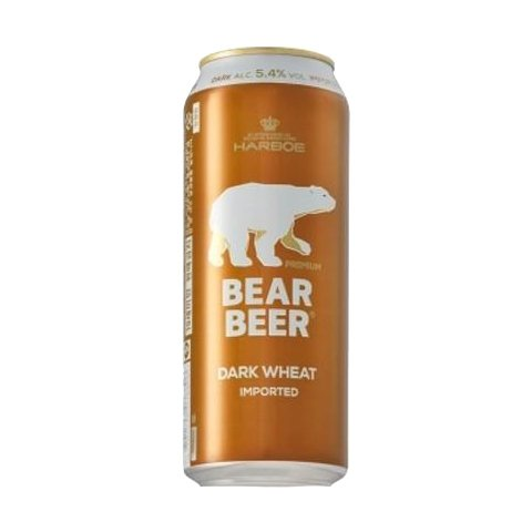 BEAR BEER DARK WHEAT LATA 500 ML