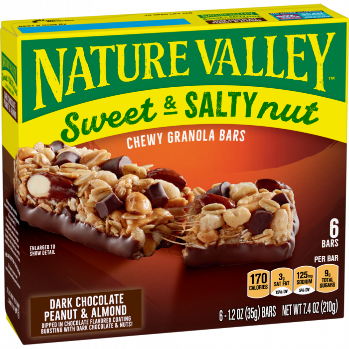 NATURAL VALLEY DARK CHOCOLATE PENAUT & ALMOND  210 GR
