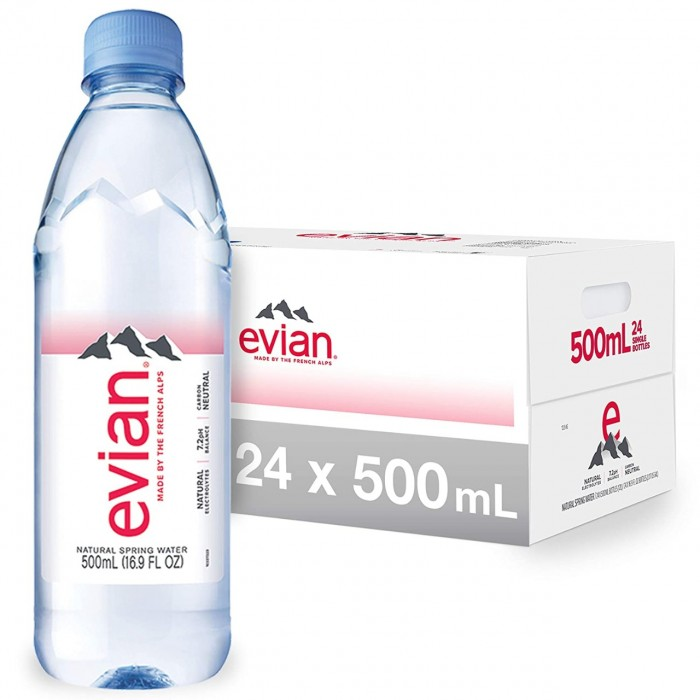 EVIAN PACK X 24 UNID DE 500ML