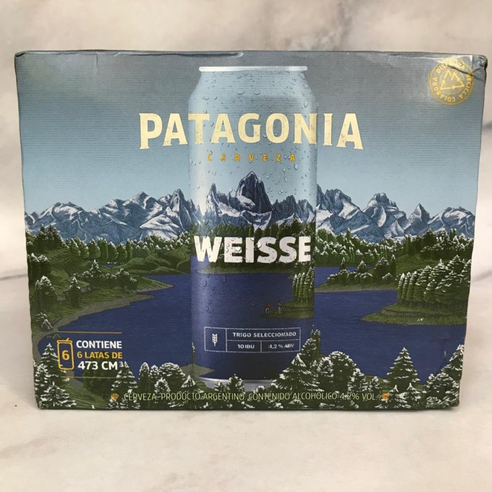 PACK PATAGONIA WEISSE LATA x6