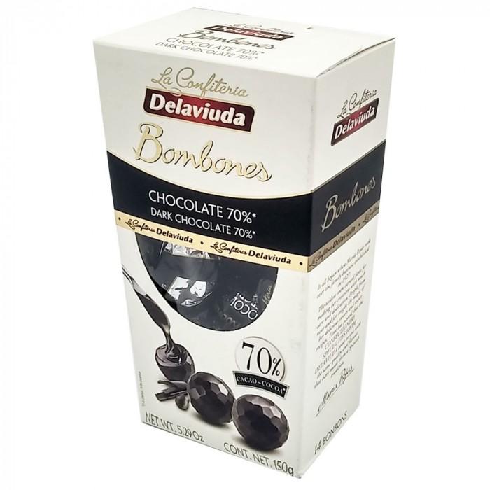 DELAVIUDA TRUFAS CHOCOLATE NEGRO 150G